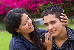 Hug da matriz e do filho Foto de Stock Royalty Free