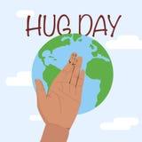 Hug day january Stock Photo