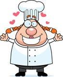 Hug do cozinheiro chefe ilustração do vetor