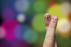 Hug do dedo Imagens de Stock
