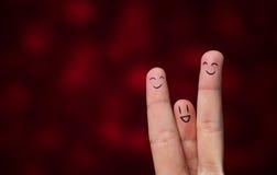Hug do dedo foto de stock