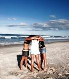 Hug do grupo Imagem de Stock