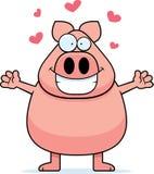 Hug do porco ilustração stock