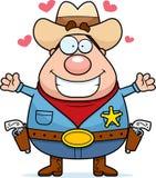 Hug do xerife ilustração do vetor