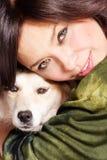 Hug the dog Royalty Free Stock Image