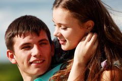 Hug dos amantes foto de stock royalty free