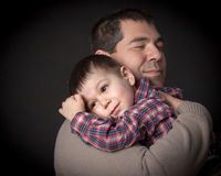 The hug- father and son. Royalty Free Stock Photos