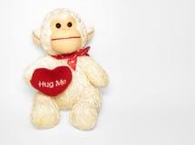 Hug Me Monkey. Hugable Valentine Monkey Royalty Free Stock Photography