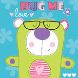 Hug me teddy bear vector illustration Stock Photography