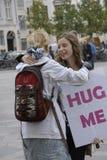 HUG ME UNIVERSITY STUDENT PROJECT stock photography