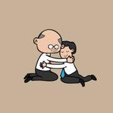 Hug office Boss and businessman Stock Photos