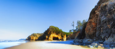 Hug Point At Arcadia Beach. At low tide which is the only time it is accessible Royalty Free Stock Images