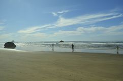 Hug Point, Cannon Beach, Oregon,USA. Pacific Coastline. Hug Point State Park Beach. Cannon Beach, Oregon, USA. Picturesque uncrowded beach with several sandstone Royalty Free Stock Photos
