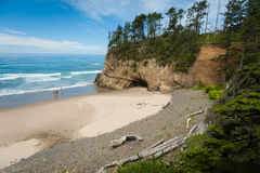 Hug Point State Park in Oregon Stock Photography