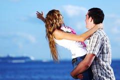 Hug see on sea Stock Image