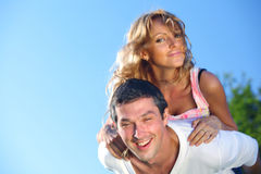 Hug in sky Royalty Free Stock Photography