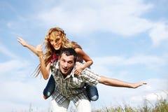 Hug in sky Stock Images