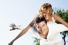 Hug in sky Royalty Free Stock Image
