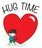 Hug time Stock Photography