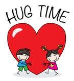 Hug time Royalty Free Stock Photo