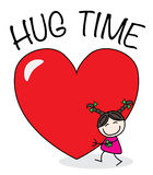 Hug time. A sweet little girl with a big heart Stock Image