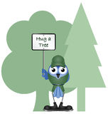 Hug a tree Stock Image