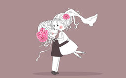 Hug Wedding ilustração stock