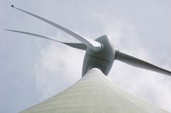 Huge 66 m modern windmill (germany).  Royalty Free Stock Photography