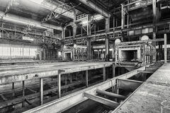 Huge abandoned factory Stock Image