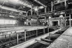 Huge abandoned factory Stock Image