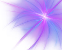 Huge abstract fractal isolated on white background stock photo