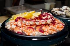 Huge Abundant Shrimp Buffet Royalty Free Stock Photos