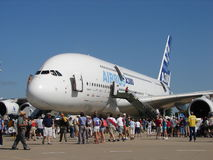 Huge Airbus A380 Super. Royalty Free Stock Photography