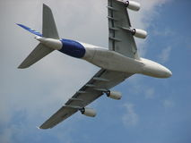 Huge Airbus A380 Super Takeoff. Royalty Free Stock Photos