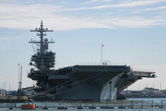 Huge Aircraft Carrier Royalty Free Stock Photography