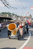 Huge alphorn stock photo