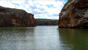 Canyon of the San Francisco river, Sergipe, Brazil. Huge and amazing canyon of the San Francisco river, Sergipe, Brazil stock video