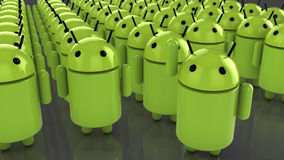 Huge amount of android figures Royalty Free Stock Image