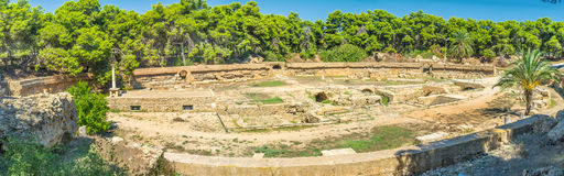 The huge amphitheatre Stock Photography
