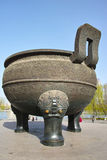 Tripod cauldron Stock Images