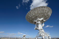 Huge antenna dish at Very Large Array Royalty Free Stock Photo