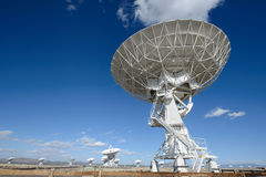 Huge antenna dish at Very Large Array. Searching for imaging signal in space Royalty Free Stock Images
