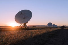 Huge antenna dish at Very Large Array Stock Images