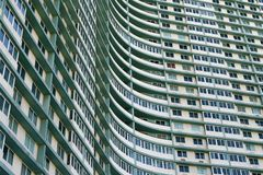 Huge apartment building complex in Havana, Cuba Stock Photo