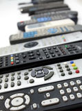 Huge array of remote controls Royalty Free Stock Images