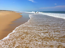 The Huge Atlantic Beaches of South west France Cap-Ferret Peninsula, South West France Stock Images