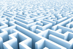 Huge azure maze structure Royalty Free Stock Images