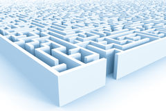 Huge azure maze structure with entrance Royalty Free Stock Image