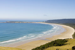 Huge beach on New Zealands south coast stock image