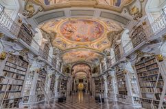 huge beautiful abbey library royalty free stock image